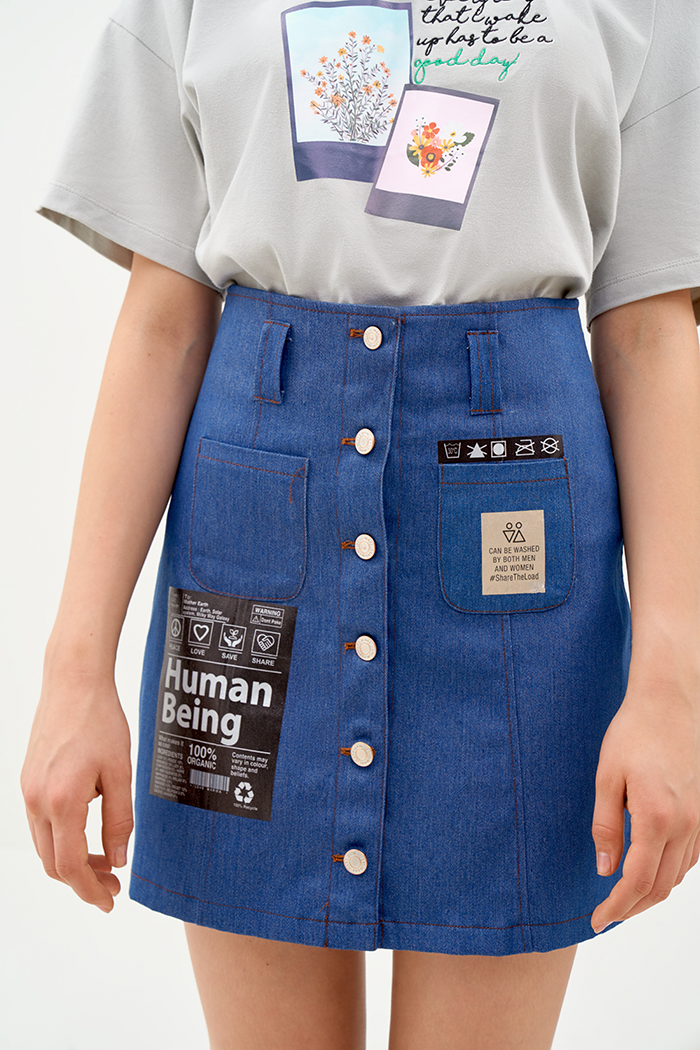 Váy jeans in decal being human