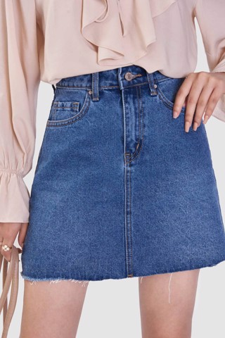 Váy jeans mini form A