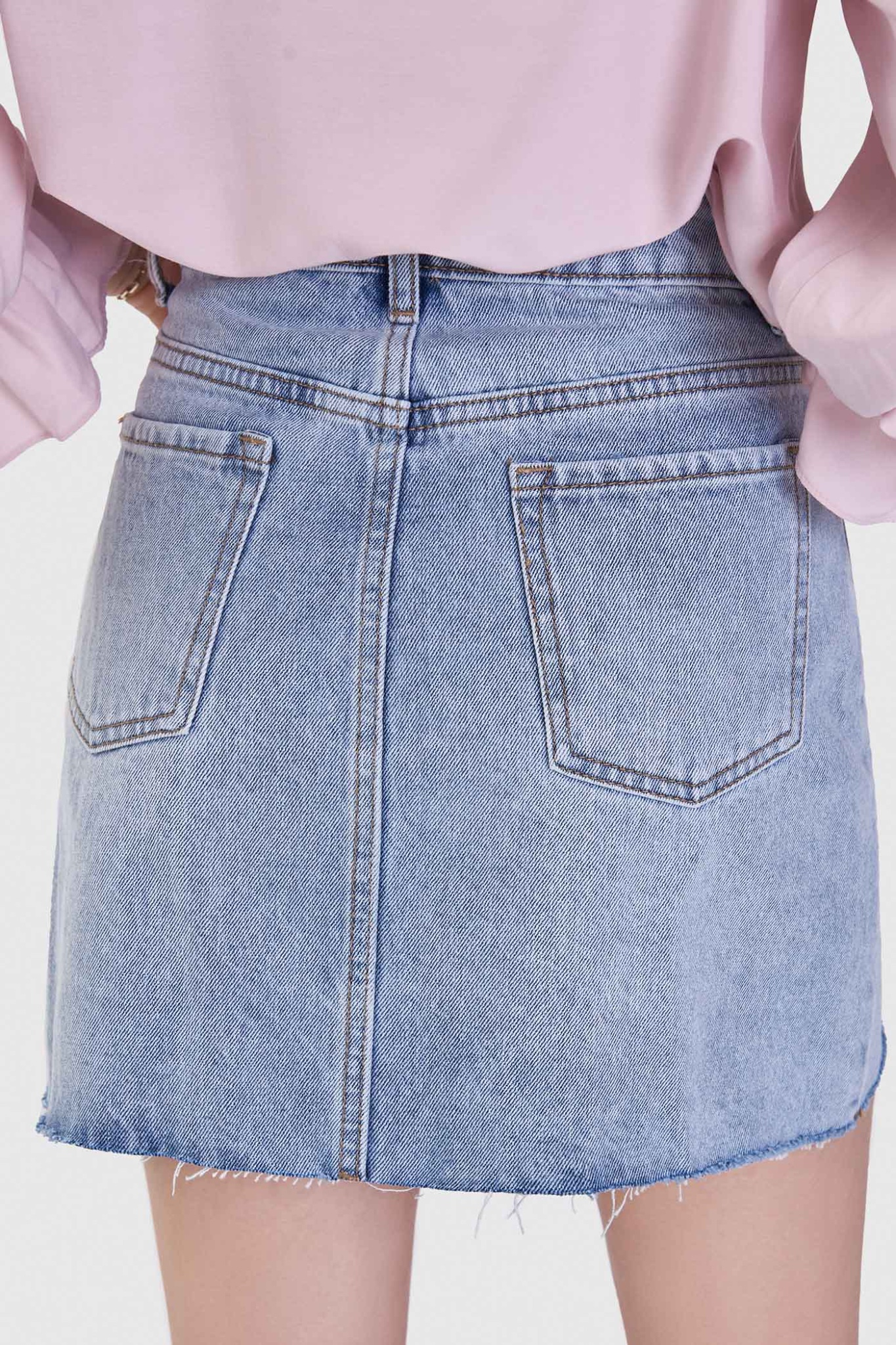 Váy jeans mini form A