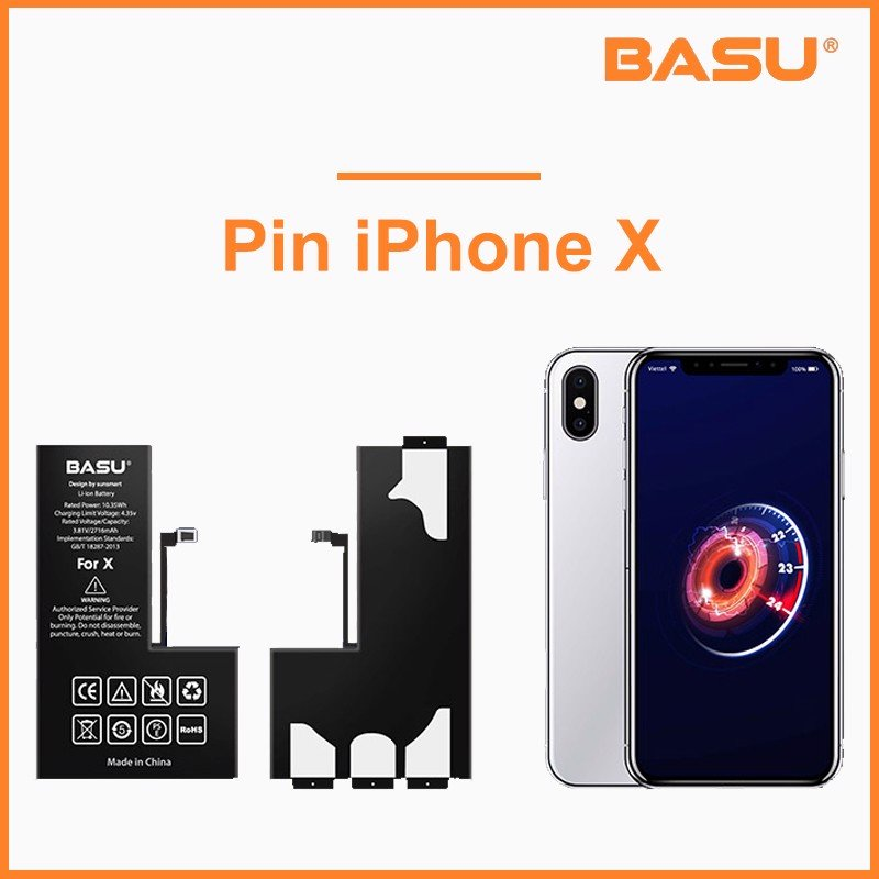 Pin Basu iPhone X
