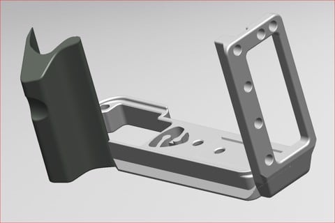 Stabil LFXT3 : L Plates (Bracket) for Fuji X-T3 camera