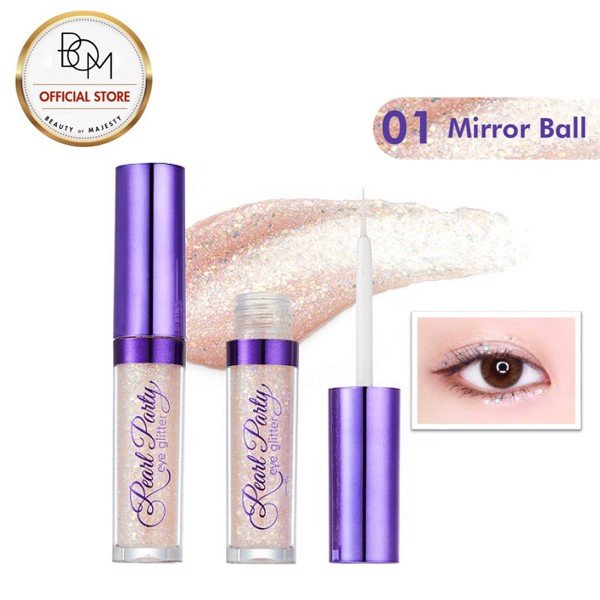 MÀU MẮT BOM PEARL PARTY EYE GLITTER - 02 SPARKLING CHAMPAGNE