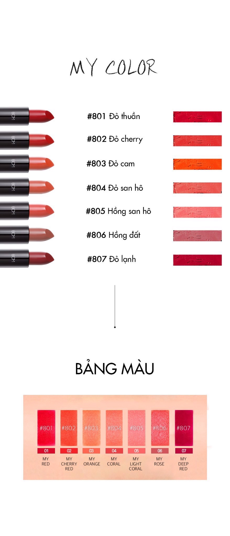 SON THỎI BOM MY LIPSTICK - 805 MY LIGHT CORAL