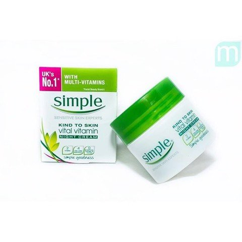 Simple Kind To Skin Vital Vitamin Day Cream SPF15 UVA/UVB 50ml
