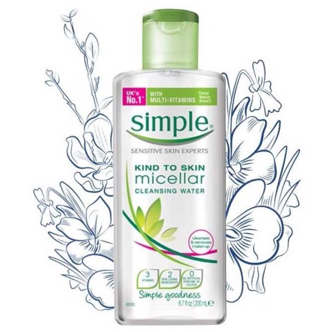 Simple Kind To Skin Cleansing Micellar Water 200ml