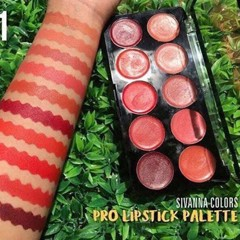 Set Son 10 Ô Sivanna Colors Pro Lipstick Palette #No 01