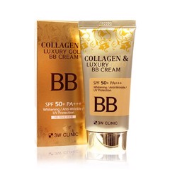 Kem Nền 3in1 3W Clinic Collagen & Luxury Gold BB Cream 50ml
