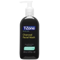 Gel Rửa Mặt Than Hoạt Tính T-Zone Charcoal Facial Wash 200ml