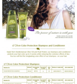 Dầu xả Oliu cho tóc nhuộm Dalan D'Olive Conditioner Nutrition Color Protection 200ml