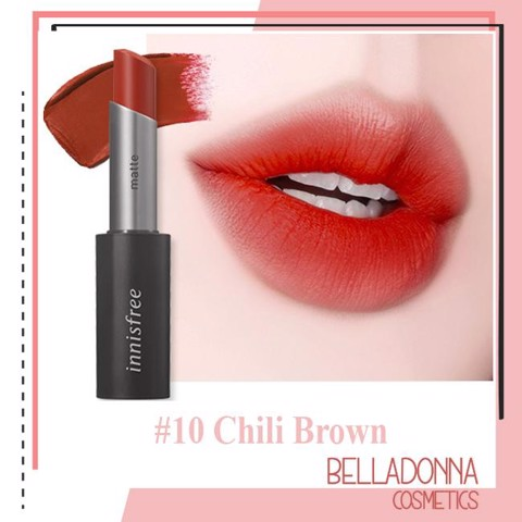 [Săn Sale 50% - Hot New 2019] Son Lì Innisfree Real Fit Matte Lipstick 3.6g