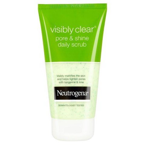Sữa Rửa Mặt Tẩy Da Chết Neutrogena Visibly Clear Pore and Shine Daily Scrub 150ml