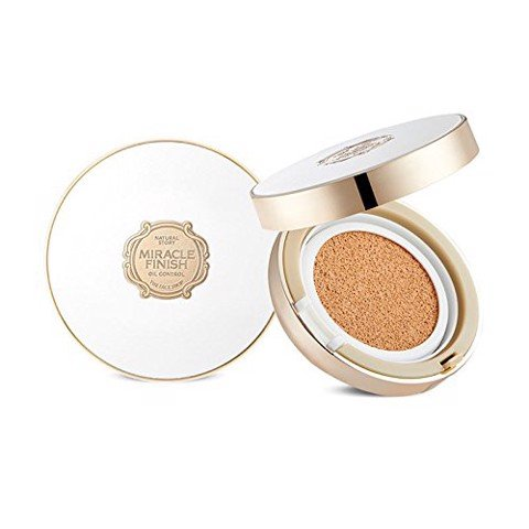 Phấn Nước The Face Shop Oil Control Water Cushion Moist Cover Long Lasting Miracle Finish SPF50 + PA +++ 15g