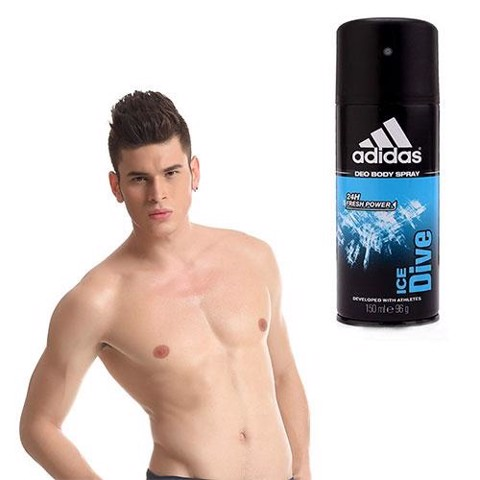 Adidas Deo Body Spray 24H Fresh Power For Men 150ml #Ice Dive