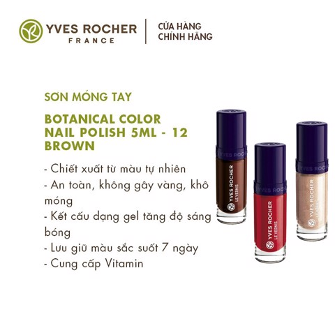 Sơn móng tay Yves Rocher Botanical Color Nail Polish 5ml
