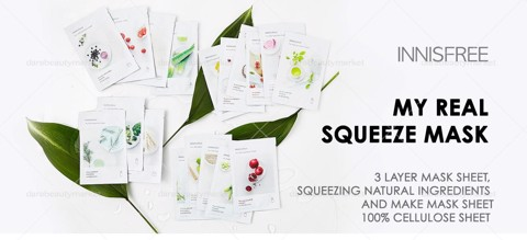 Innisfree My Real Squeeze Mask 20ml X 6