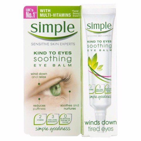 Simple Kind To Eyes Soothing Eye Balm Winds Down Tired Eyes 15ml