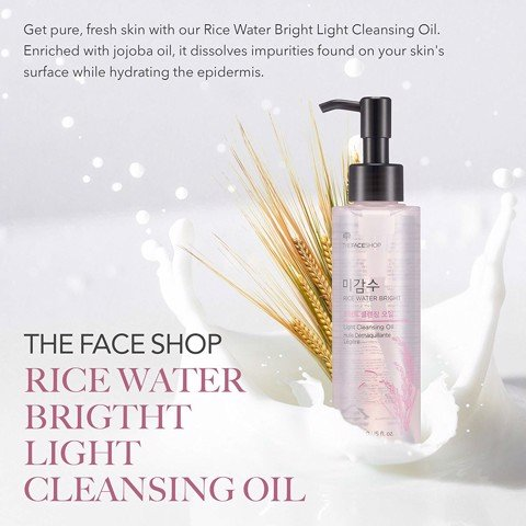 Tinh Dầu Tẩy Trang Gạo The Face Shop Rice Water Bright Light Cleansing Oil 150ml