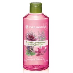 Gel tắm và gội Yves Rocher Relaxing Bath and Shower Gel Lotus Flower Sage 400ml