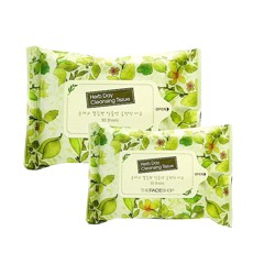 Khăn Giấy Tẩy Trang The Face Shop Herb Day Cleansing Tissue 20 Miếng