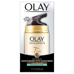 Kem dưỡng da chống lại 7 dấu hiệu lão hóa Olay Total Effects 7 in One Anti-Aging Moisturizer With Sunscreen Broad Spectrum SPF15 Fragrance-free 50ml - Không Mùi