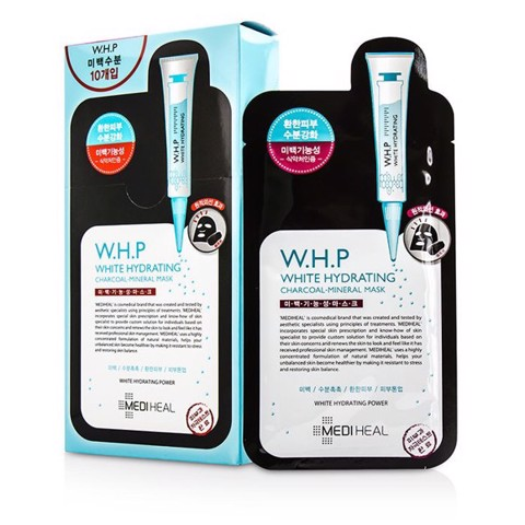 Combo of 10 Mediheal W.H.P White Hydrating Charcoal-Mineral Mask (25ml x 10)