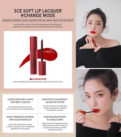 [HOT NEW 2018] 3CE Soft Lip Lacquer