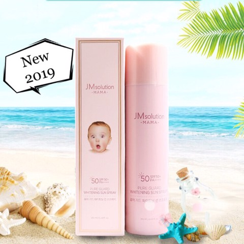 Xịt Chống Nắng 4in1 Jm Solution Mama Pure Guard Whitening Sun Spray SPF50+ PA+++ 180ml