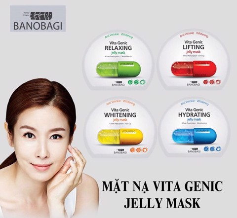 Combo of 5 Banobagi Vita Genic Jelly Mask For All Skin Relaxing 30x10ml
