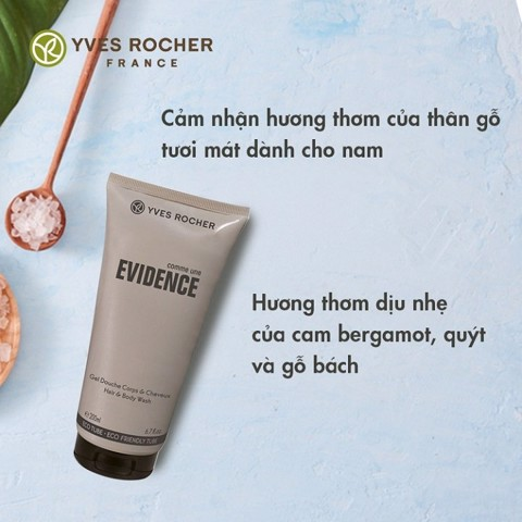 Gel Tắm Gội Cho Nam Yves Rocher Comme Une Evidence Hair & Body Wash 200ml