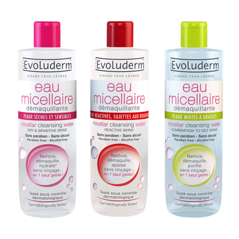 Evoluderm Micellar Cleansing Water Dry & Sensive Skins 500ml