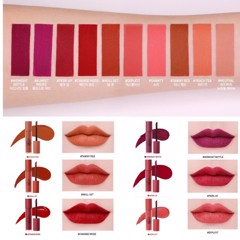 3CE Soft Lip Lacque (include 10 shades)
