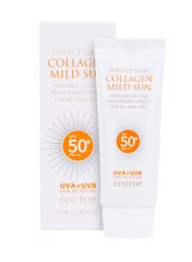 Kem chống nắng dưỡng da bố sung collagen Ecotop Perfect Daily Collagen Mild Sun SPF50+ PA+++ 70ml