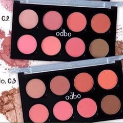 ODBO 8 Colour Infinity Blusher Color Palette (3 option)