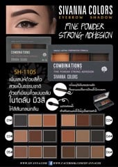 Bột kẻ mày Sivanna Colors Combinations Eyebrow 8g