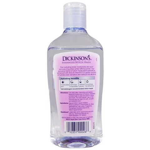 DICKINSON'S Enhanced Witch Hazel Hydrating Toner 473ml