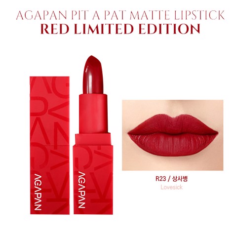 Agapan Pit A Pat Matte Red Limited Edition