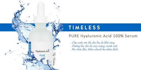 [2 Size 30ml,60ml] Serum Cấp Ẩm Timeless Pure Hyluronic Acid