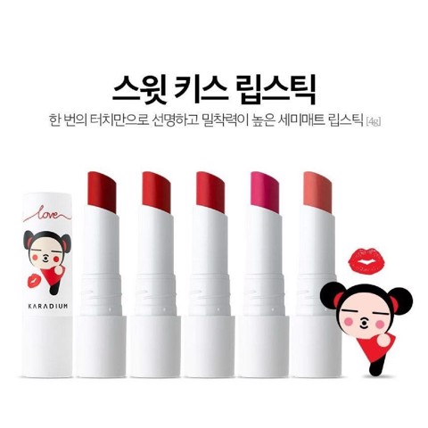 Son Lì Karadium Pucca Love Edition Sweet Kiss Lipstick