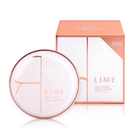 Lime Real Cover Pink Cushion SPF50+/PA+++ 20g (2 option)