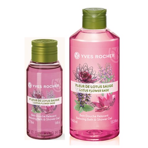 Gel tắm và gội Yves Rocher Relaxing Bath and Shower Gel Lotus Flower Sage 50ml