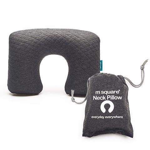 Gối hơi du lịch chữ u cao cấp Msquare có túi đựng