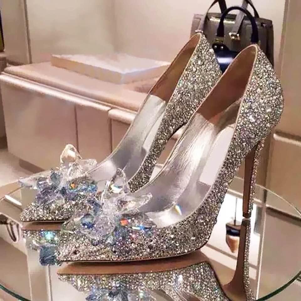 Kết quả hình ảnh cho giày cao gót đính hoa