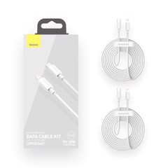 Set 2 Cáp Type C to Lightning Baseus 1.5M PD 20W - TZCATLZJ