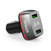 Sạc ô tô Anker 2 cổng, 36w, Quick Charge 2.0 - [PowerDrive+ 2, 36w, QC 2.0]- A2221