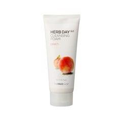 Sữa Rửa Mặt Cung Cấp Ẩm The Face Shop Herb Day 365 Cleansing Foam Peach