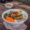 NOODLES SALAD WITH GRILLED PORK ROLLS
