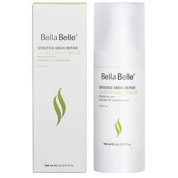 Kem trắng da vùng nhạy cảm Sensitive Areas Repair Lightening Cream Bella Belle 80ml