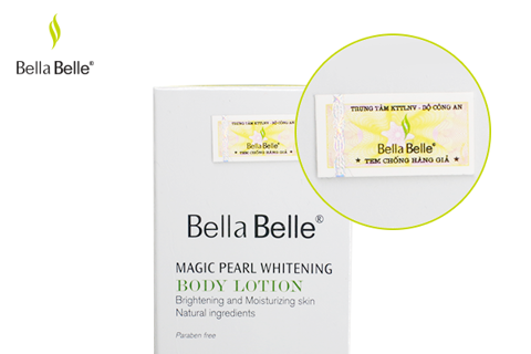 Kem dưỡng trắng Makeup Body Magic Pearl Whitening Body Lotion Bella Belle 180ml