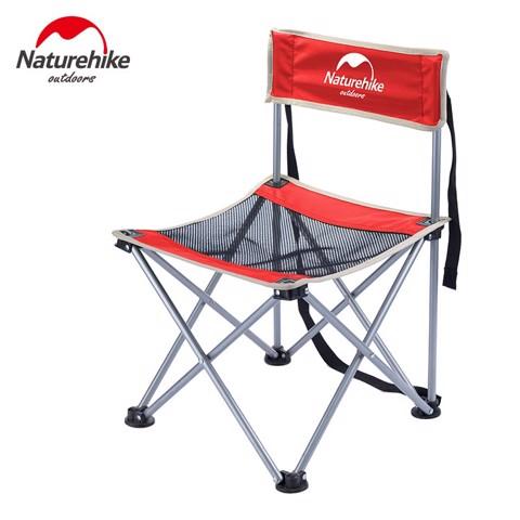Ghế xếp vải dù có lưng tựa Naturehike Đỏ