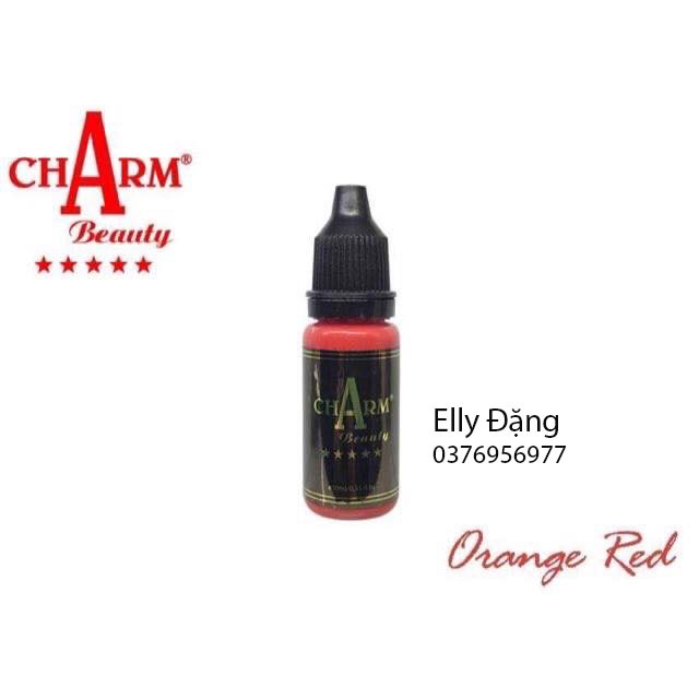 Mực Phun Xăm ChArm Orange Red